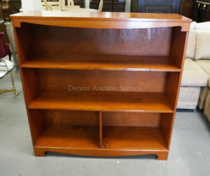 pine bookcase 41 1 2 inches wide 41 1 2 inches tall. Black Bedroom Furniture Sets. Home Design Ideas