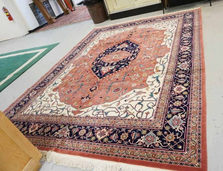 Oriental Room Size Rug Measuring 9 Ft 10 Inches X 12 Ft 2 In