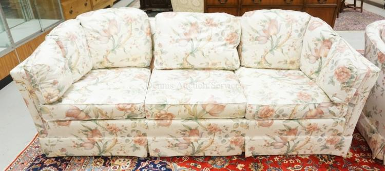 Pennsylvania House Sofa PENNSYLVANIA HOUSE SOFA WITH FLORAL AND BIRD  UPHOLSTERY .