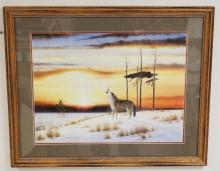 DONALD VANN LIMITED EDITION NATIVE AMERICAN INDIAN PRINT. AP ED #12/95. 23 3/4 X 17 3/4 INCHES.