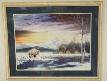 DONALD VANN LIMITED EDITION NATIVE AMERICAN INDIAN PRINT. ED #62/950. 28 3/4 X 21 3/4 INCHES.