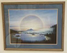 DONALD VANN LIMITED EDITION NATIVE AMERICAN INDIAN PRINT. ED #219/950. 26 1/2 X 19 3/4 INCHES.