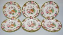 SET OF 10 ROYAL DOULTON DINNER PLATES WITH AN ASIAN MOTIF. 10 1/4 INCH DIA.