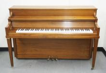 KRAKAUER UPRIGHT PIANO W/BENCH. 60 INCHES WIDE. 40 INCHES HIGH.