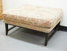 MID CENTURY MODERN OTTOMAN BY DUNBAR (UNSIGNED). 33 X 27 AND 16 1/4 INCHES HIGH.