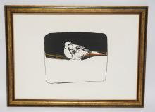 LIMITED EDITION BIRD PRINT. SIGNED AND DATED. 23 1/2 X 17 1/2 INCH FRAME.