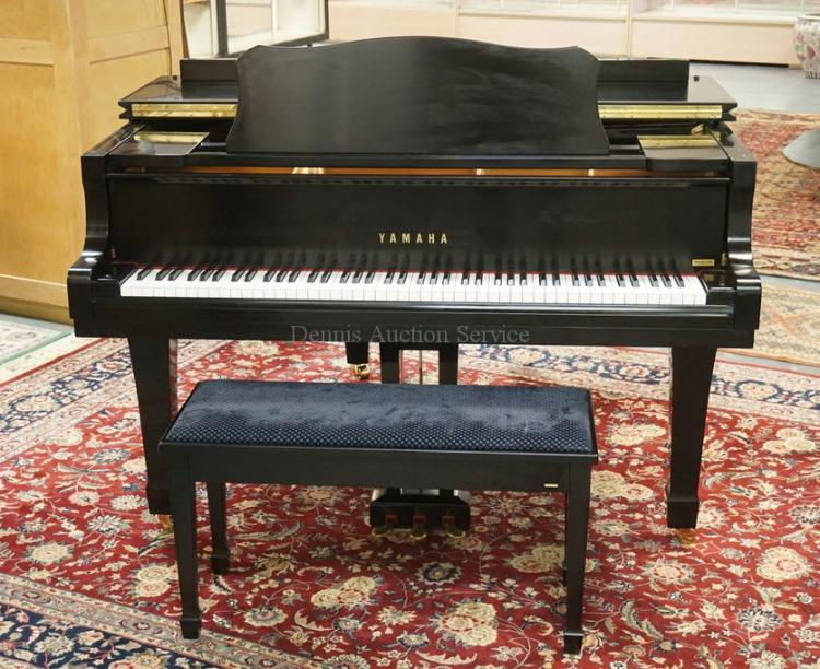 yamaha c1 conservatory baby grand piano in an ebonized finis