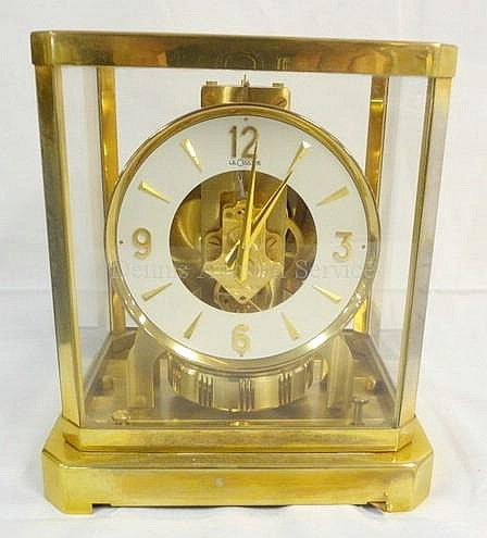 LE COULTURE ATMOS CLOCK; 8 1/8 IN W, 9 1/8 IN H