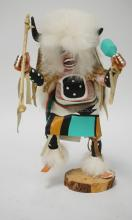 NATIVE AMERICAN INDIAN KACHINA DOLL MEASURING 10 1/2 INCHES HIGH.
