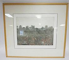 FRAMED, LIM ED PENCIL SIGNED PRNT BY PETER