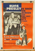 VINTAGE ELVIS PRESLEY MOVIE THEATER POSTER. *KING CREOLE* (R59-174). 1959 PARAMOUNT PICTURES. 40 X 60 IN.