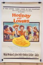 VINTAGE MOVIE THEATER POSTER *HOLIDAY FOR LOVERS* (Z59-206). 1959 TWENTIETH CENTURY FOX. 40 X 60 IN.