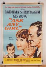VINTAGE MOVIE THEATER POSTER *ASK ANY GIRL* (Z59-115) 1959 MGM. 40 X 60 IN.