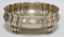 14.13 T OZ.800 SILVER FOOTED BOWL BY HUGO BOHM AND CO. 9 1/2 IN DIA