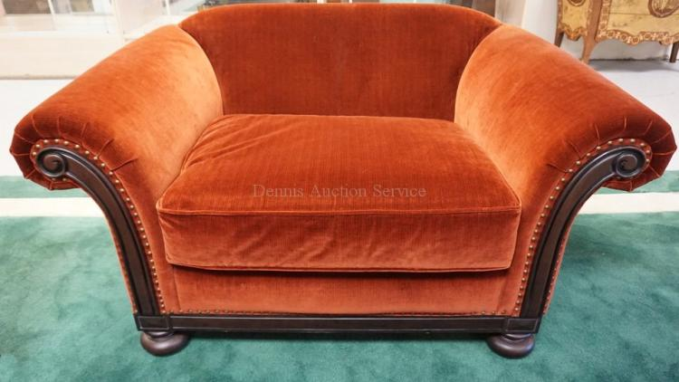 BERNHARDT CHAIR AND A HALF WITH OTTOMAN