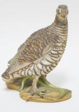BOEHM PORCELAIN BIRD *LESSER PRAIRIE CHICKEN* #464. 9 7/8 IN TALL.