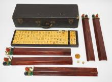 VINTAGE BAKELITE MAHJONG SET IN ORIGINAL CASE. 20 X 6 1/2 X 4 1/2 IN.