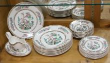 26 PC LORD NELSON POTTERY INDIAN TREE PATTERN. LARGEST PLATE 10 1/8 IN