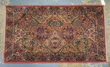 ORIENTAL THROW 4 FT 3 IN X 3 FT 1 IN