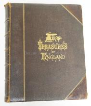 BOOK. *ART TREASURES OF ENGLAND* 1876. EDITED BY J. VERNON WHITAKER. 100 STEEL ENGRAVINGS. 13 1/4 IN TALL.