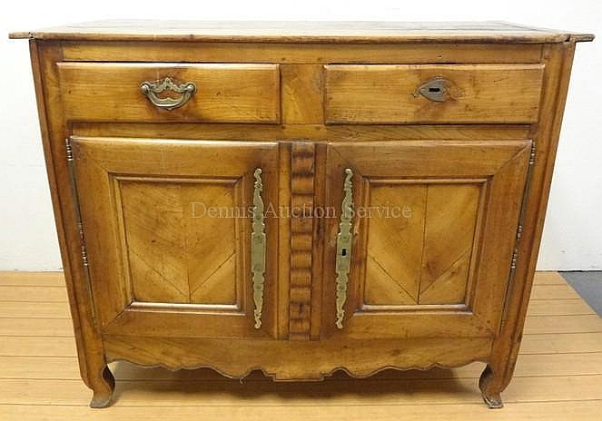ANTIQUE FRENCH BUFFET CABINET W/2 DRAWERS, 2 DOORS