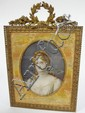 MINIATURE PAINTING ON IVORY OF A BLONDE WOMAN