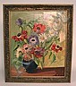 OIL ON MASONITE, UNSIGNED; STILL LIFE & FLORAL; 19