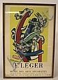 FRENCH POSTER; PUB MOURLOT PARIS; F. LEGER, 1956;