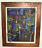O/C SIGNED CHRISTINE; ABSTRACT; 23 1/2 IN X 19 1/2