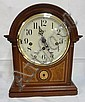 SLIGH CLOCK W/GERMAN WORKS; FRANZ HERMLE; 12 IN H, 9 3/8 IN W