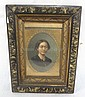 SMALL PORTRAIT PAINTING OF A WOMAN IN VICTORIAN