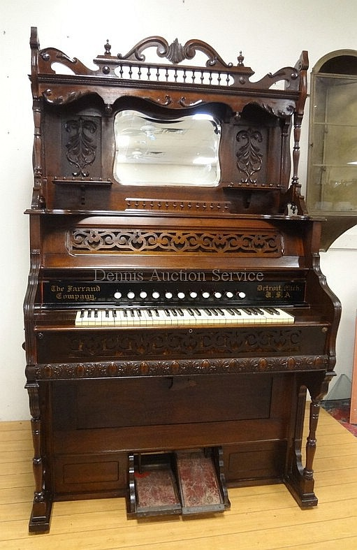 Ornate Victorian Pump Organ The Harrand Co Detroit With