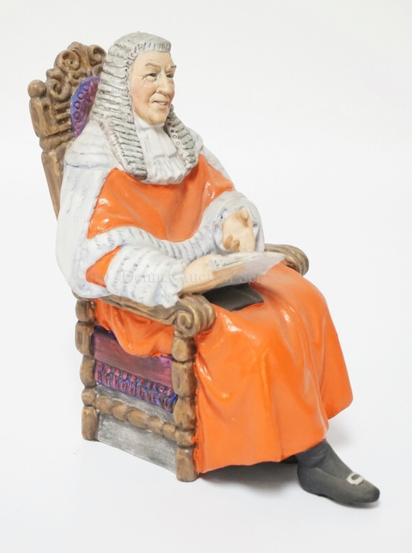 ROYAL DOULTON #2443 *THE JUDGE* PORCELAIN FIGURE. MATTE FINISH. 6 3/8 INCHES HIGH.