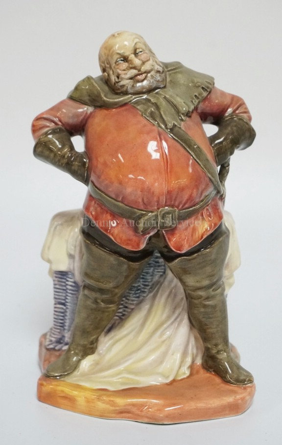ROYAL DOULTON #2054 *FALSTAFF* PORCELAIN FIGURE. 7 1/4 INCHES HIGH.