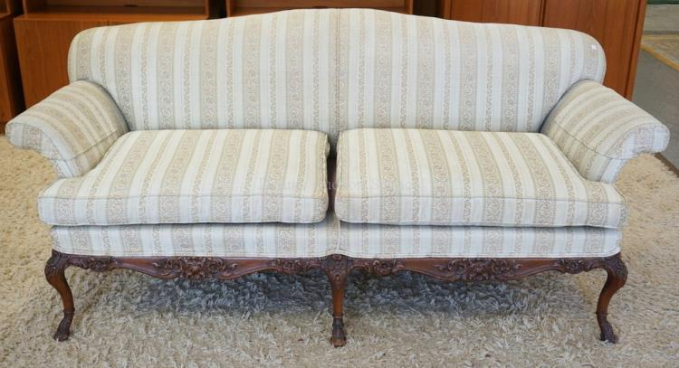 Sofa with a carved frame approx 80 inches long 34 1 2 inch for 80 inch couch
