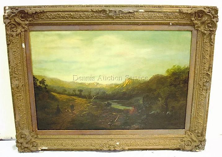 FRAMED O/C BY D. JAMES R.A., 1870; LANDSCAPE