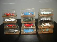 LOT OF 12 BRUMM DIE CAST MODEL CARS IN ORIGINAL BOX
