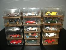 LOT OF 15 BRUMM DIE CAST MODEL CARS IN ORIGINAL BOX
