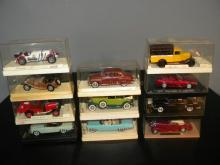 LOT OF 11 SOLIDO DIE CAST MODEL CAR IN ORIGINAL BOX