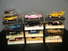LOT OF 12 SOLIDO DIE CAST MODEL CARS IN ORIGINAL BOX