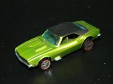 VINTAGE HOT WHEELS REDLINE CUSTOM CAMARO ANTIFREEZE W/PAINTED TAIL TABBED BASE