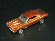 VINTAGE HOT WHEELS REDLINE CUSTOM COUGER ORANGE W/PAINTED NOSE