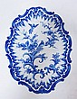 CHARACTER SIGNED BLUE & WHITE PLATTER W/BIRDS ON A