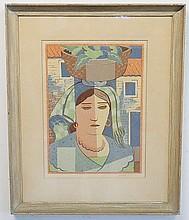 EDMUND DANIEL KINZINGER (1888-1963); LITHOGRAPH ON