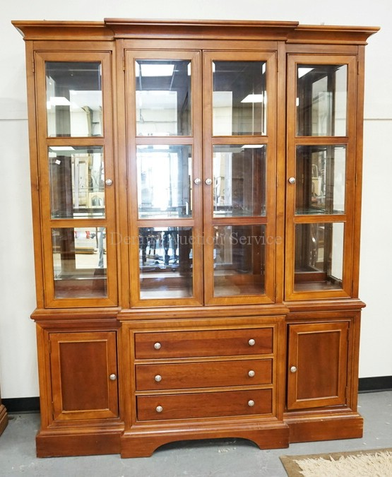 kitchen cabinets pic block front china cabinet with a lighted interior glass she 20998