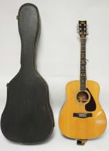 YAMAHA GUITAR. FG-345 WITH CASE. EXCELLENT CONDITION.