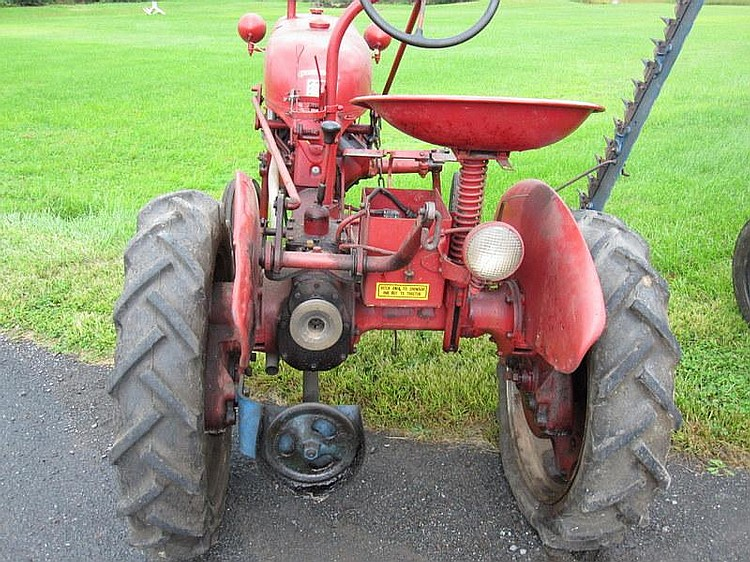 FARMALL MCCORMICK CUB 3 Speed Trans with sickle Bar, Amp Meter, # 9359, NOT in running condition
