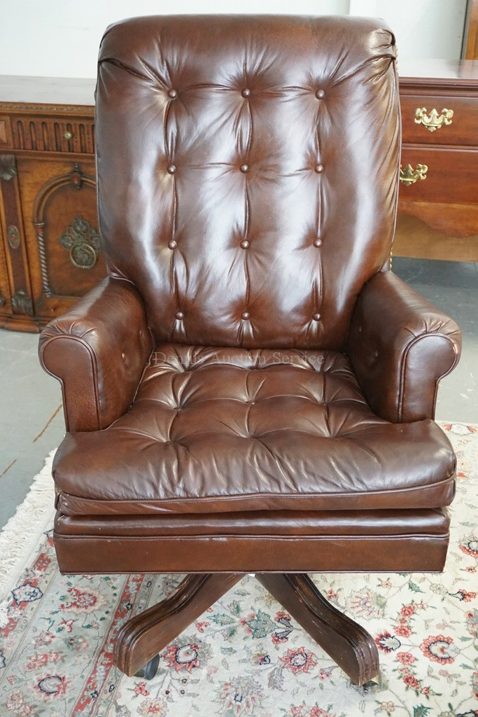 Tufted leather executives chair by century furniture some s for Furniture 4 a lot less