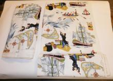 2 LARGE BOLTS OF FABRIC- NANTUCKET-