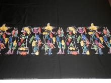 HANS MOLLER *CIRCUS DAYS* BOLT OF FABRIC- REVERSIBLE. APP 15 FT X 3 FT